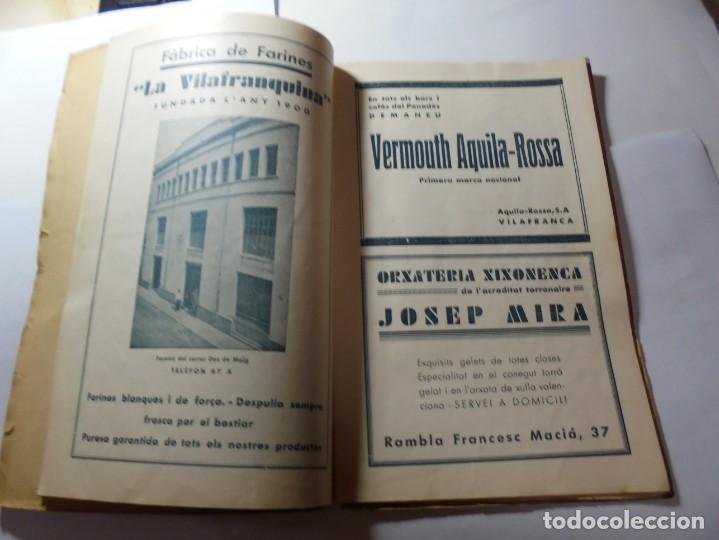 Coleccionismo: magnifico antiguo programa de vilafranca del penedes fira comercial y agricola 1936 - Foto 5 - 266803474