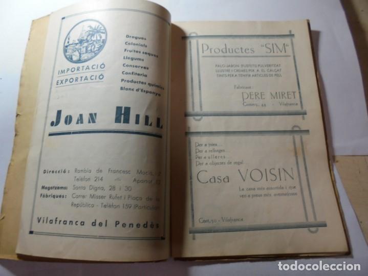 Coleccionismo: magnifico antiguo programa de vilafranca del penedes fira comercial y agricola 1936 - Foto 6 - 266803474