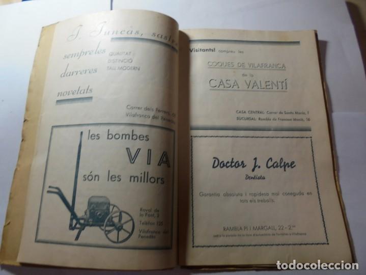 Coleccionismo: magnifico antiguo programa de vilafranca del penedes fira comercial y agricola 1936 - Foto 7 - 266803474