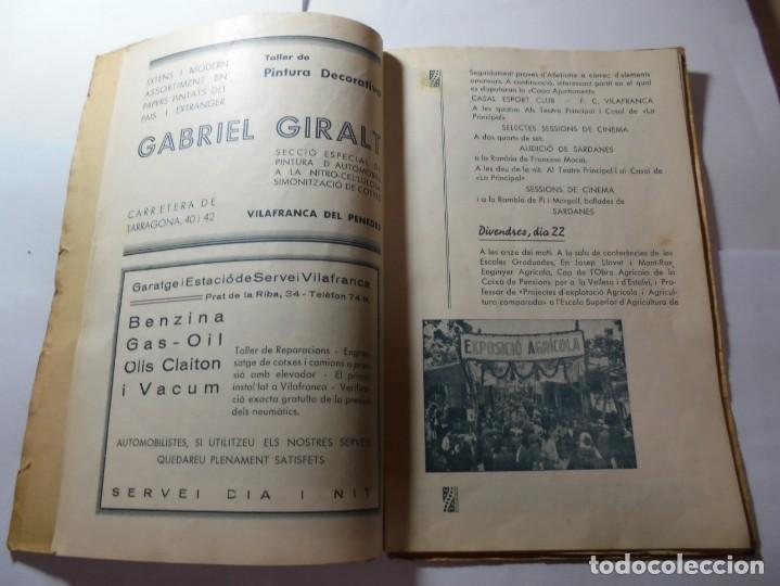 Coleccionismo: magnifico antiguo programa de vilafranca del penedes fira comercial y agricola 1936 - Foto 8 - 266803474