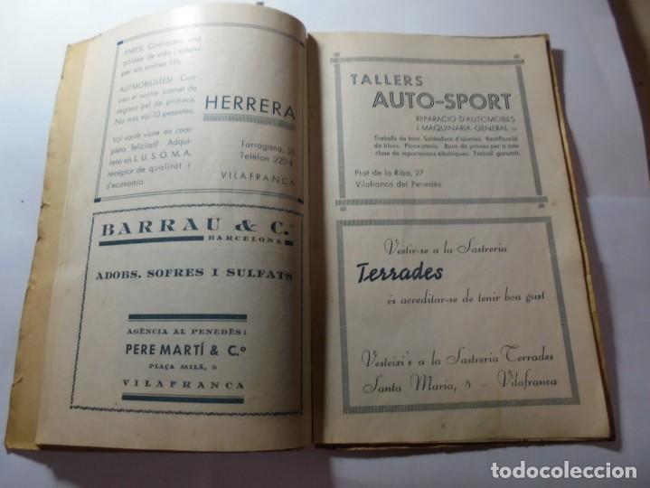Coleccionismo: magnifico antiguo programa de vilafranca del penedes fira comercial y agricola 1936 - Foto 11 - 266803474