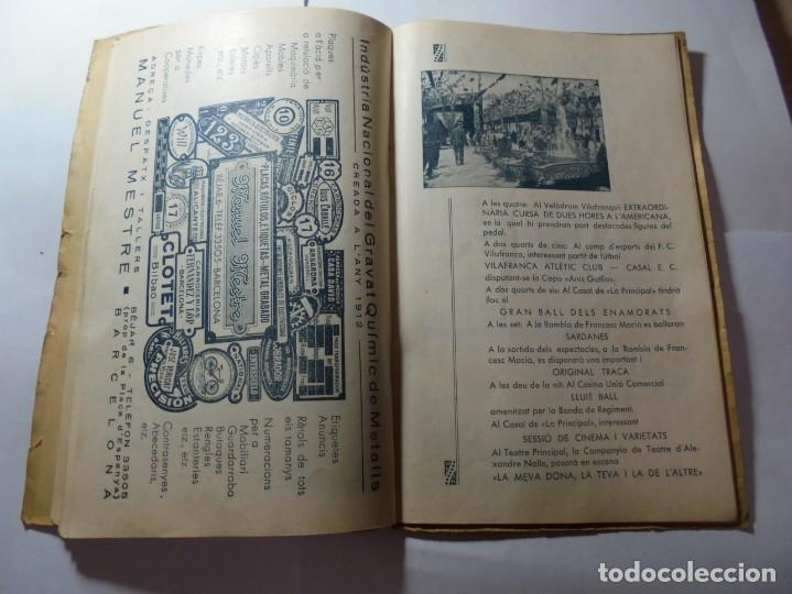 Coleccionismo: magnifico antiguo programa de vilafranca del penedes fira comercial y agricola 1936 - Foto 14 - 266803474