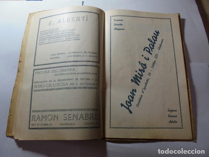 Coleccionismo: magnifico antiguo programa de vilafranca del penedes fira comercial y agricola 1936 - Foto 16 - 266803474