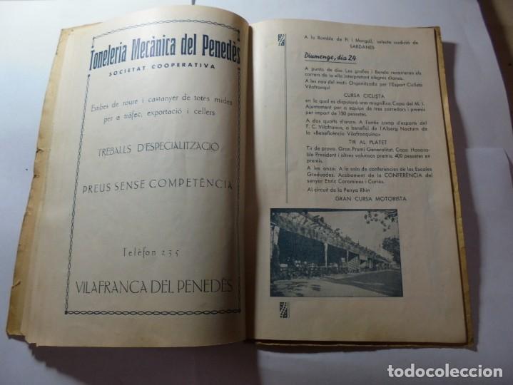 Coleccionismo: magnifico antiguo programa de vilafranca del penedes fira comercial y agricola 1936 - Foto 17 - 266803474