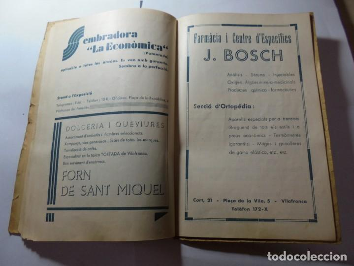 Coleccionismo: magnifico antiguo programa de vilafranca del penedes fira comercial y agricola 1936 - Foto 18 - 266803474