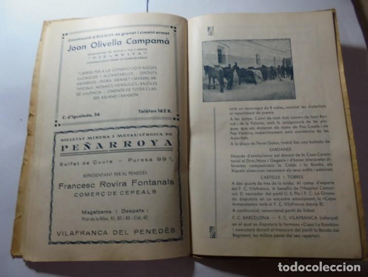 Coleccionismo: magnifico antiguo programa de vilafranca del penedes fira comercial y agricola 1936 - Foto 19 - 266803474