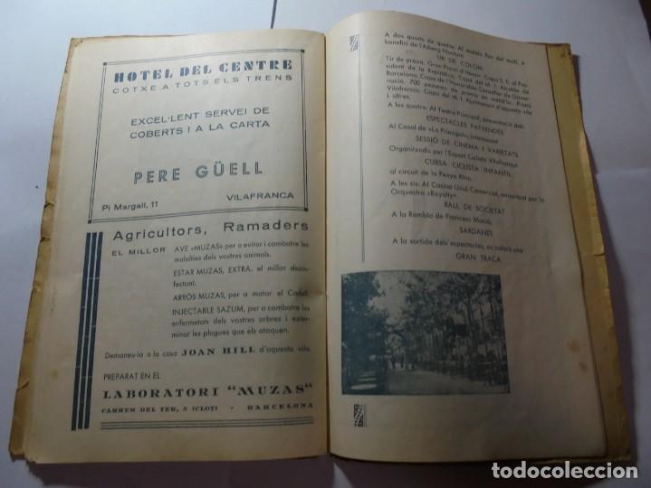 Coleccionismo: magnifico antiguo programa de vilafranca del penedes fira comercial y agricola 1936 - Foto 20 - 266803474