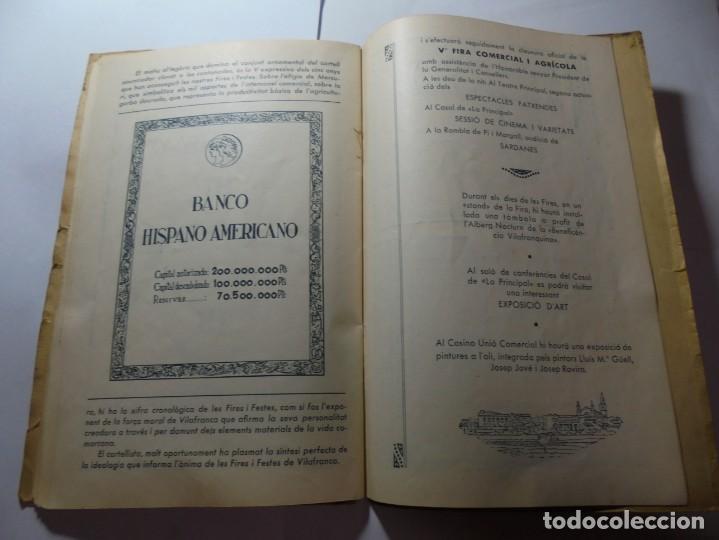 Coleccionismo: magnifico antiguo programa de vilafranca del penedes fira comercial y agricola 1936 - Foto 21 - 266803474