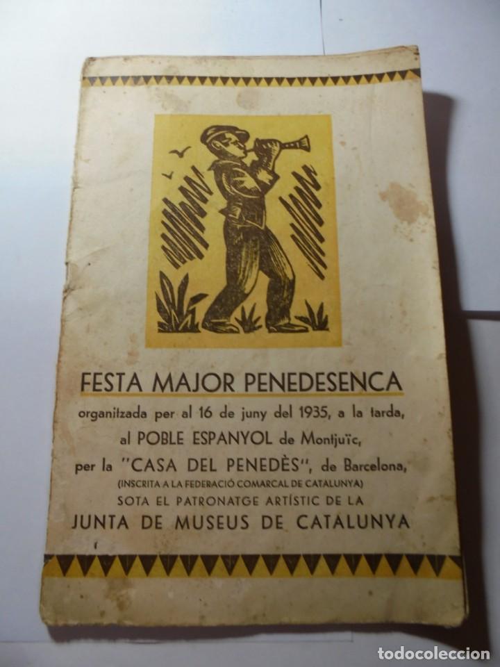 MAGNIFICO ANTIGUO PROGRAMA FESTA MAJOR PENEDESENCA DEL 1935 (Coleccionismo - Laminas, Programas y Otros Documentos)