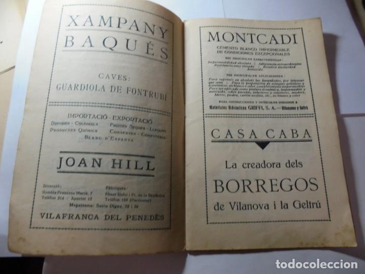 Coleccionismo: magnifico antiguo programa festa major penedesenca del 1935 - Foto 2 - 266805764