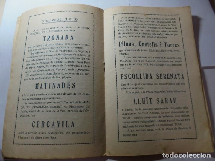 Coleccionismo: magnifico antiguo programa festa major penedesenca del 1935 - Foto 5 - 266805764