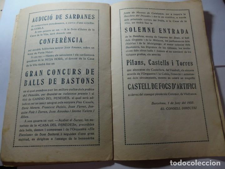 Coleccionismo: magnifico antiguo programa festa major penedesenca del 1935 - Foto 6 - 266805764