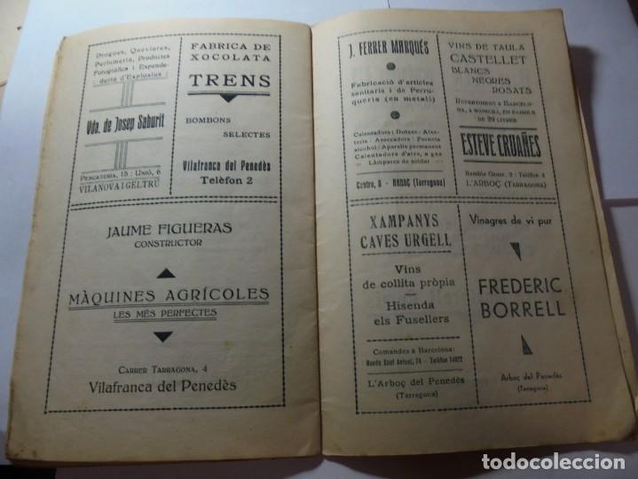 Coleccionismo: magnifico antiguo programa festa major penedesenca del 1935 - Foto 8 - 266805764