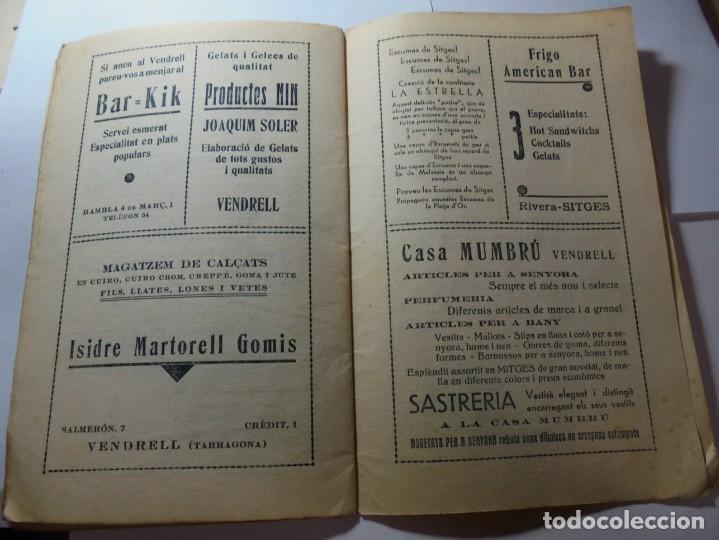 Coleccionismo: magnifico antiguo programa festa major penedesenca del 1935 - Foto 9 - 266805764