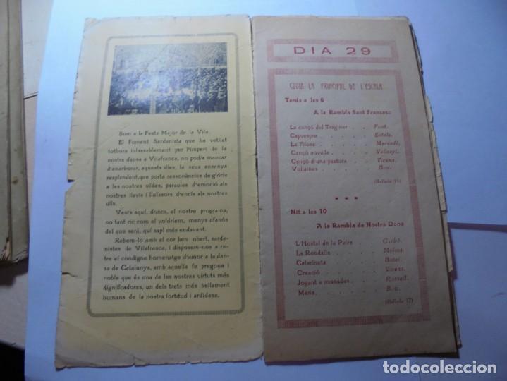 Coleccionismo: magnifico antiguo programa la principal festa major vilafranca del penedes del 1923 - Foto 2 - 266807334