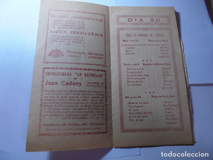 Coleccionismo: magnifico antiguo programa la principal festa major vilafranca del penedes del 1923 - Foto 3 - 266807334