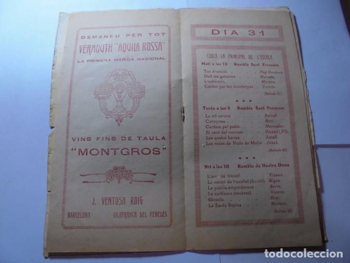 Coleccionismo: magnifico antiguo programa la principal festa major vilafranca del penedes del 1923 - Foto 4 - 266807334