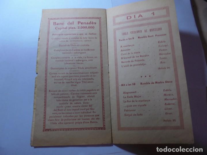 Coleccionismo: magnifico antiguo programa la principal festa major vilafranca del penedes del 1923 - Foto 5 - 266807334
