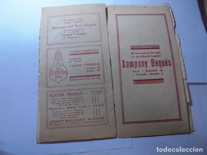 Coleccionismo: magnifico antiguo programa la principal festa major vilafranca del penedes del 1923 - Foto 6 - 266807334