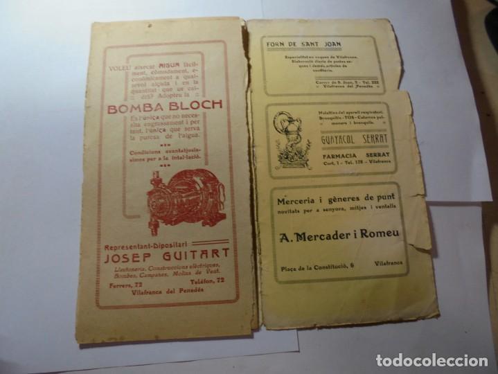 Coleccionismo: magnifico antiguo programa la principal festa major vilafranca del penedes del 1923 - Foto 7 - 266807334