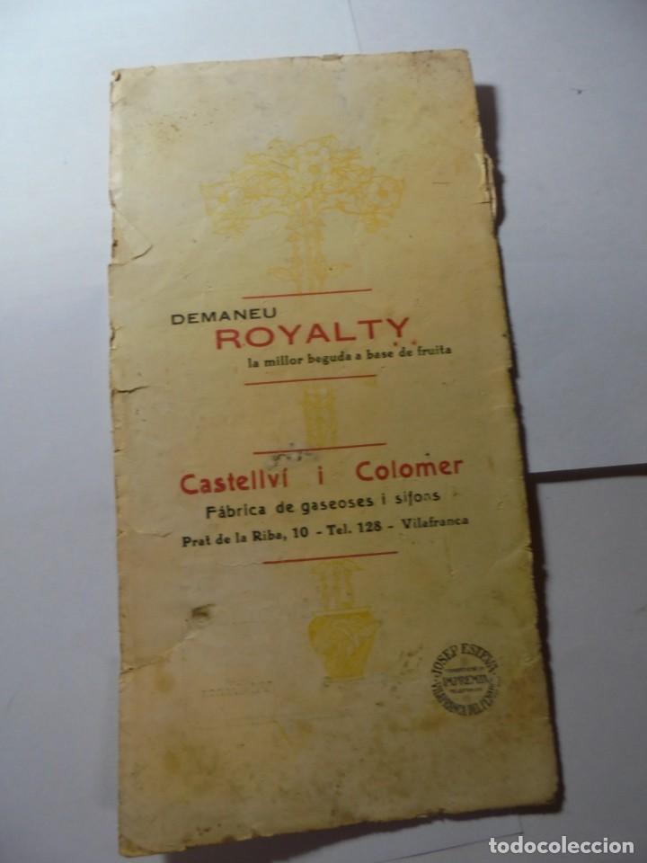 Coleccionismo: magnifico antiguo programa la principal festa major vilafranca del penedes del 1923 - Foto 8 - 266807334