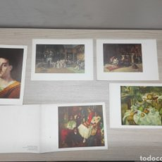Coleccionismo: 12 LÁMINAS PINACOTECAS ESPAÑOLAS Y MUSEO JEU DE PAUME. LAURACICLINA. HOSBON. Lote 267662364