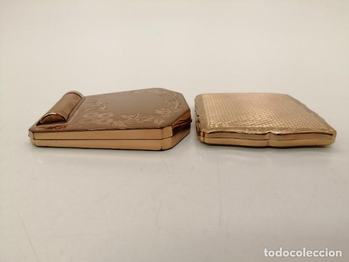 Coleccionismo: 2 POLVERAS, CORONA Y STRATTON, BAÑADAS EN ORO - Foto 20 - 268280849