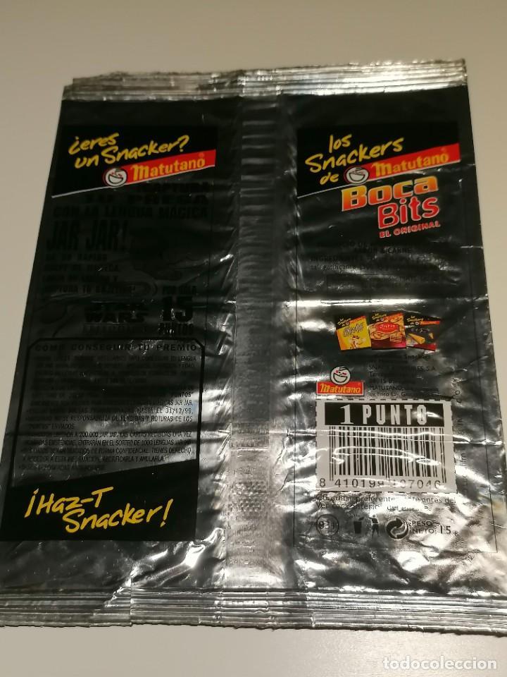 Coleccionismo: Bolsa de aperitivos Boca Bits Matutano promocion Star Wars Episodio I de 1999 - Foto 2 - 268729869
