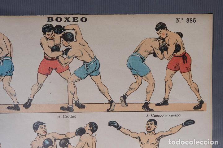 Coleccionismo: Estampa economica Paluzie Boxeo - Imprenta Elzeviriana y Libreria Camí Barcelona - Foto 2 - 268845724