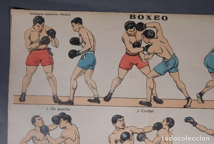 Coleccionismo: Estampa economica Paluzie Boxeo - Imprenta Elzeviriana y Libreria Camí Barcelona - Foto 3 - 268845724