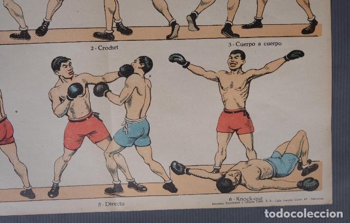 Coleccionismo: Estampa economica Paluzie Boxeo - Imprenta Elzeviriana y Libreria Camí Barcelona - Foto 5 - 268845724