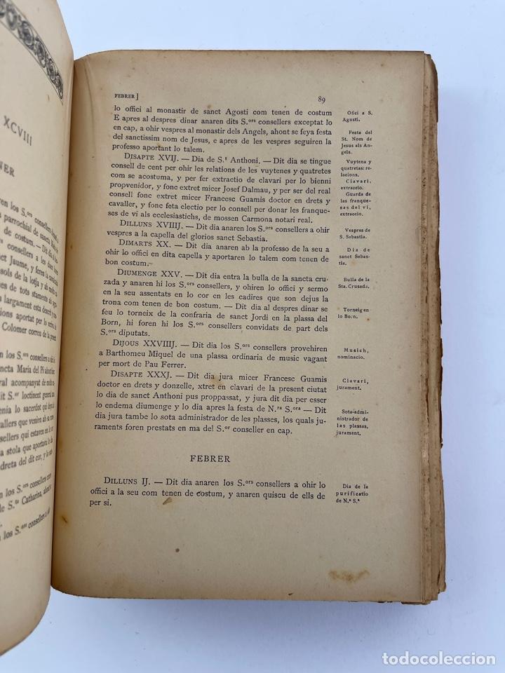 Coleccionismo: DOC-55.COL. DE DOCUMENTS HISTORICS INÈDITS DEL ARXIU MUNICIPAL DE LA CIUTAT DE BARCELONA. VOL.VII. - Foto 2 - 269098208