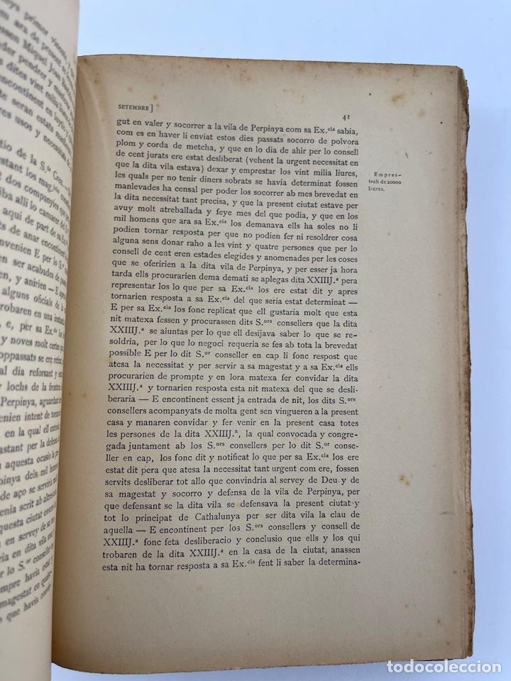 Coleccionismo: DOC-55.COL. DE DOCUMENTS HISTORICS INÈDITS DEL ARXIU MUNICIPAL DE LA CIUTAT DE BARCELONA. VOL.VII. - Foto 3 - 269098208