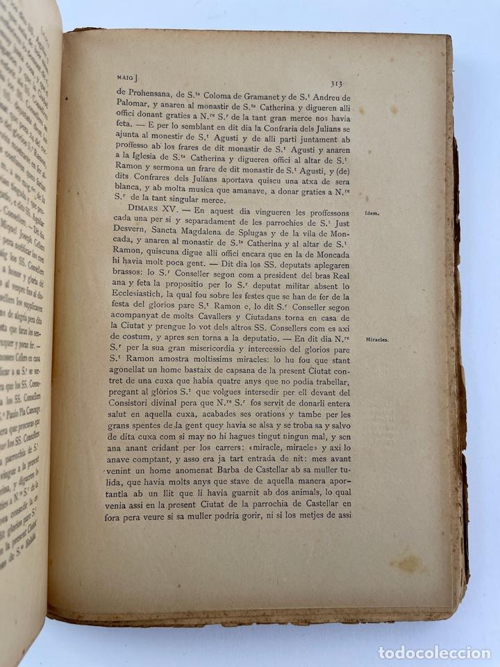 Coleccionismo: DOC-55.COL. DE DOCUMENTS HISTORICS INÈDITS DEL ARXIU MUNICIPAL DE LA CIUTAT DE BARCELONA. VOL.VII. - Foto 4 - 269098208