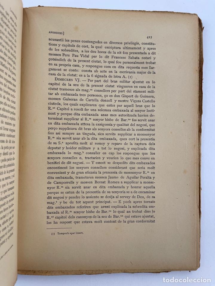 Coleccionismo: DOC-55.COL. DE DOCUMENTS HISTORICS INÈDITS DEL ARXIU MUNICIPAL DE LA CIUTAT DE BARCELONA. VOL.VII. - Foto 5 - 269098208