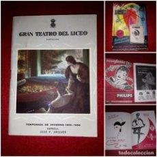 Coleccionismo: PROGRAMA GRAN TEATRO DEL LICEO TEMPORADA DE INVIERNO 1955-1956. Lote 269162428