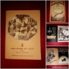Coleccionismo: PROGRAMA GRAN TEATRO DEL LICEO TEMPORADA DE INVIERNO 1950-1951. Lote 269163003