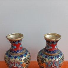 Coleccionismo: ANTIGUO JARRONES CLOISONE. Lote 269614258