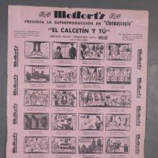 Coleccionismo: AUCA/ALELUYA MOLFORT'S PRESENTA LA SUPERPRODUCCIÓN EN CINEMASCOPIO EL CALCETÍN Y TÚ-IMP.MINERVA. Lote 269747773