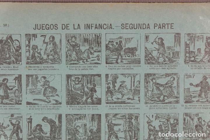 Coleccionismo: Auca/Aleluya Juegos de la infancia segunda parte - Despacho Sucesores de Hernando Madrid - Foto 2 - 269747873