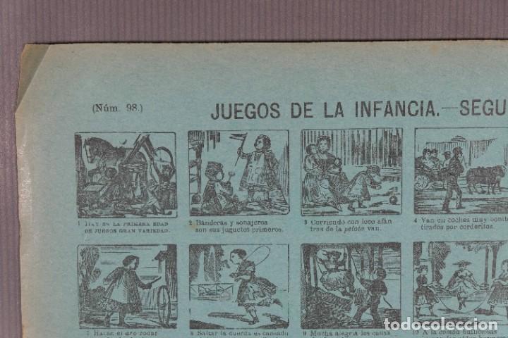 Coleccionismo: Auca/Aleluya Juegos de la infancia segunda parte - Despacho Sucesores de Hernando Madrid - Foto 5 - 269747873