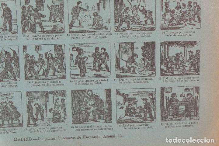 Coleccionismo: Auca/Aleluya Juegos de la infancia segunda parte - Despacho Sucesores de Hernando Madrid - Foto 7 - 269747873