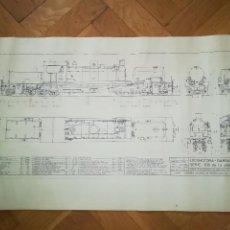 Coleccionismo: PLANO E:1/43,5. LOCOMOTORA-GARRATT 260-062 SERIE 100 DE LA COMP. C.G.F.C. 1973.. Lote 269849983