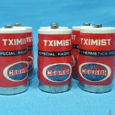 Coleccionismo: LOTE DE 6 PILAS - TXIMIST - CEGASA - + R14 P - 1,5 V. Lote 270880788