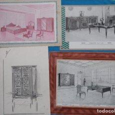 Coleccionismo: 76 LÁMINAS DE MUEBLES. Lote 270917653
