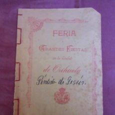 Coleccionismo: PERDIDA DE JESUS.EDUARDO TORRES LOZANO.PBRO.SEMON MANUSCRITO,ORIHUELA 1903.RARO ORIGINAL.. Lote 271694393