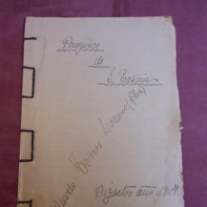Coleccionismo: PANEGIRICO DE S.JOAQUIN.EDUARDO TORRES,PBRO.SERMON MANUSCRITO,BIGASTRO 1907.RARO ORIGINAL.. Lote 271694728