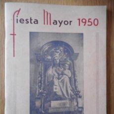 Coleccionismo: ANTIGUO PROGRAMA. FIESTA MAYOR.MORA LA NUEVA.MORA LA NOVA.TARRAGONA 1950. Lote 272001408