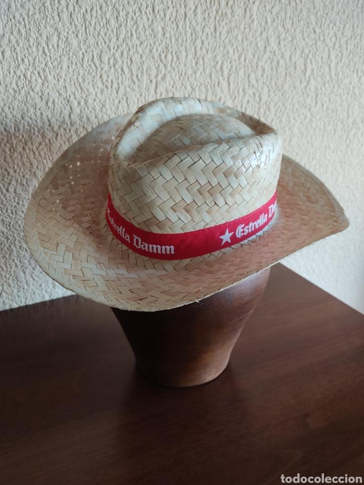 Coleccionismo: Sombrero de paja Estrella Damm - Foto 2 - 273532093