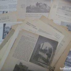 Coleccionismo: LOTE DE 15 ARTICULOS SOBRE CASTILLOS DE ESPAÑA, AÑOS 60-70: TOLEDO, CUELLAR, ALMODOVAR, ETC. VER. Lote 274659583